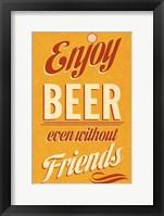 Framed Enjoy Beer