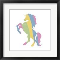 Framed Multicolor Unicorn