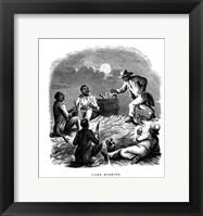 Framed Corn Husking, c1850