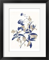 Framed Indigo Flowers Two
