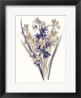 Framed Indigo Flowers Three