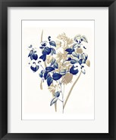 Framed Indigo Flowers Four