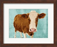 Framed Brown Cow Now