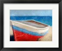 Framed Red White and Blue Beach