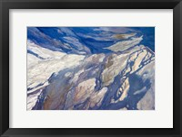 Framed Aerial view of Highland Lakes on Atacama Desert, Chile