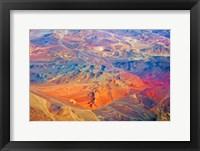 Framed Aerial view of Land Pattern on Atacama Desert, Chile