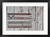 Framed American Flag in Benge