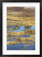 Framed Mineral Deposit Formation, Yellowstone National Park