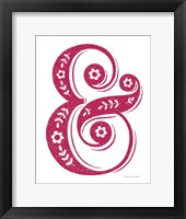 Framed Floral Ampersand Crop