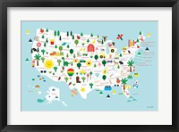 Framed Fun USA Map