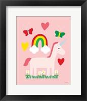 Framed Unicorn Fun I