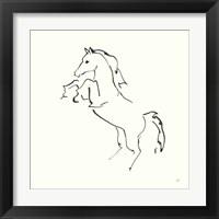 Framed Line Horse IX