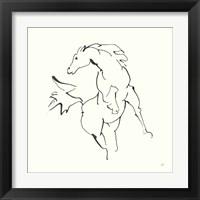 Framed Line Horse VIII