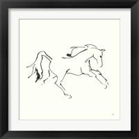 Framed Line Horse VII