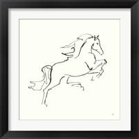 Framed Line Horse VI