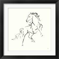 Framed Line Horse IV