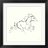 Framed Line Horse II