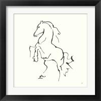 Framed Line Horse I