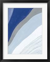 Framed Retro Abstract IV Blue