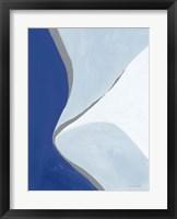 Framed Retro Abstract III Blue