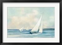 Framed Sailboats at Sunrise