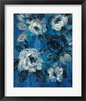 Loose Flowers on Blue II Framed Print