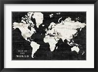 Framed World Map Black