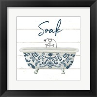 Cottage Bath II Framed Print
