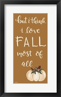 Framed I Love Fall Most of All