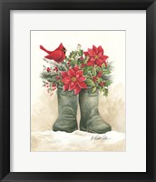 Framed Christmas Lodge Boots