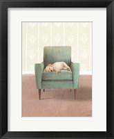 Framed Nap Time Golden Pup