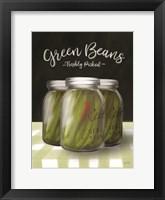 Framed Farm Fresh Green Beans