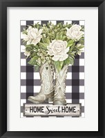Framed Home Sweet Home Cowboy Boots