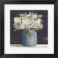 Framed White Flowers I