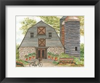 Framed Bluebird Barn