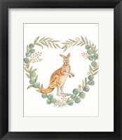 Framed Kangaroo Love