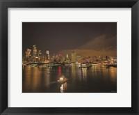 Framed Manhattan Harbor