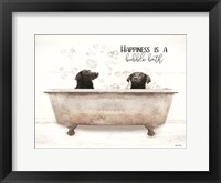 Framed Happiness is a Bubble Bath
