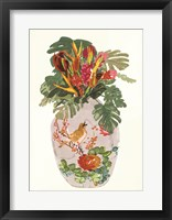 Framed Tropical Vase I
