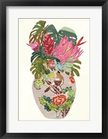 Framed Tropical Vase II