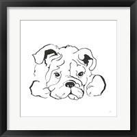 Framed Line Dog Bulldog II