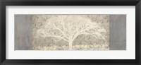 Framed Grey Brocade Panel