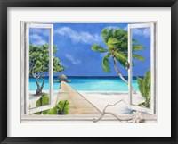 Framed Plage Tropicale