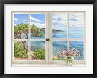 Framed Baie Mediterraneenne