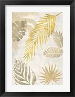 Framed Palm Leaves Gold I