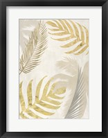 Framed Palm Leaves Gold III