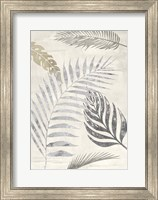 Framed Palm Leaves Silver I