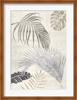 Framed Palm Leaves Silver II