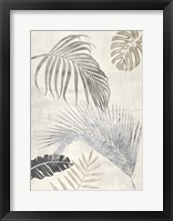 Framed Palm Leaves Silver II