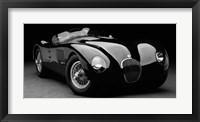 Framed 1951 Jaguar C-Type (BW) 1